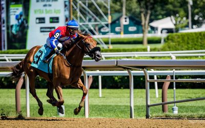 Blue Streak Racing strikes at Saratoga for 2nd year in a row as Rossa Veloce wins in her first start!